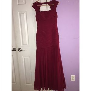 LONG BURGUNDY FOR SPECIAL OCCASION